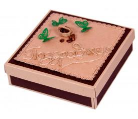 Коробочка подарочная (ручная работа), украшенная
