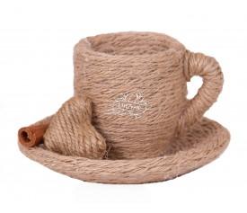 Чашка с блюдцем декоративные (ручная работа), S