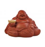 """Глиняная игрушка для чайной церемонии """"Хотэй с чашей"""""""