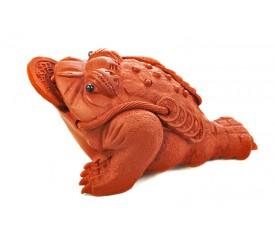 """Глиняная игрушка для чайной церемонии """"Трехлапая жаба с монетой"""""""