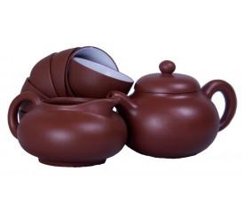 Чайный набор из глины, 8 предметов