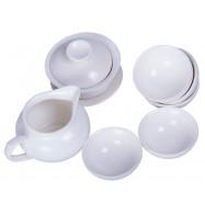"""Чайный набор из фарфора """"Вершина"""", 8 предметов"""