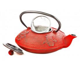 Чугунный чайник (красный), 800 мл